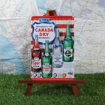 新品【ブリキ看板】CANADA DRY/カナダドライ Four Bottles