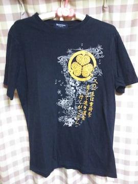 ★SMUFFY&CO 和柄 金ラメ 葵の紋 Tシャツ サイズM 激渋●