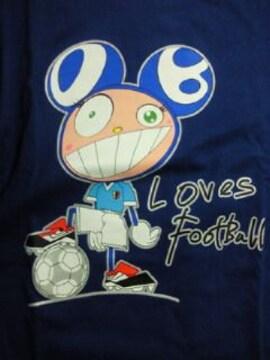 adidas アディダス サッカー キリン 勝ちT 村上隆 デザイン Tシャツ ブルー Sサイズ