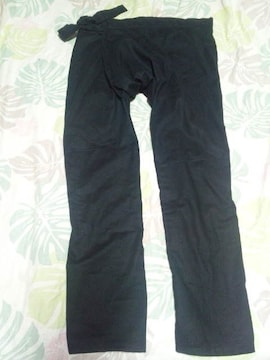 ☆新品黒×無地股引(パッチ)140