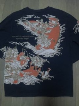★USED[爆烈爛漫娘]源平合戦八艘飛び長袖Tシャツ スカジャン好きにも