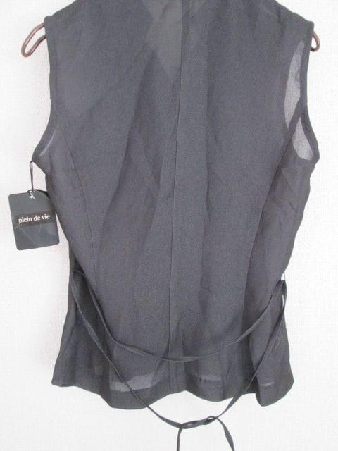 新品即決/plein de vie/ベルト付きノースリーブシャツブラウス/9 < 女性ファッションの