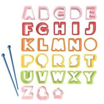 ★計26個★ ABC アルファベット 型抜き ピック付