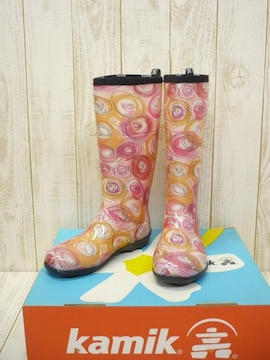 即決☆カミック 特価 W's レインブーツ [SQ] OG/24cm 新品 長靴