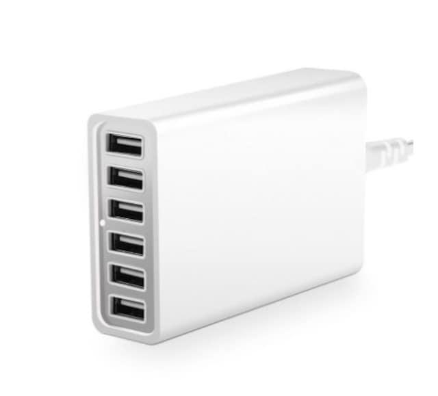 USB充電器 ACアダプター 6ポート60W 白 < 家電/AVの