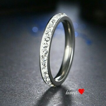 送料無料16号シルバースーパーCZダイヤフルエタニティリング指輪