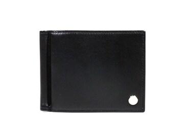 正規未使用IWC二つ折り財布レザーマネークリップ付き黒札入