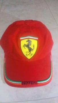 Ferrariキャップレッドフリーサイズ