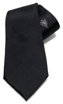 新品同様正規グッチネクタイブラッククレスト紋章スリムナロ