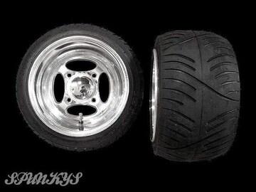 ホンダジャイロにクロスアルミホイール扁平タイヤ