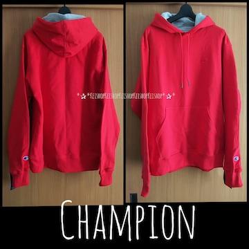 Champion 赤パーカー USサイズ スウェット