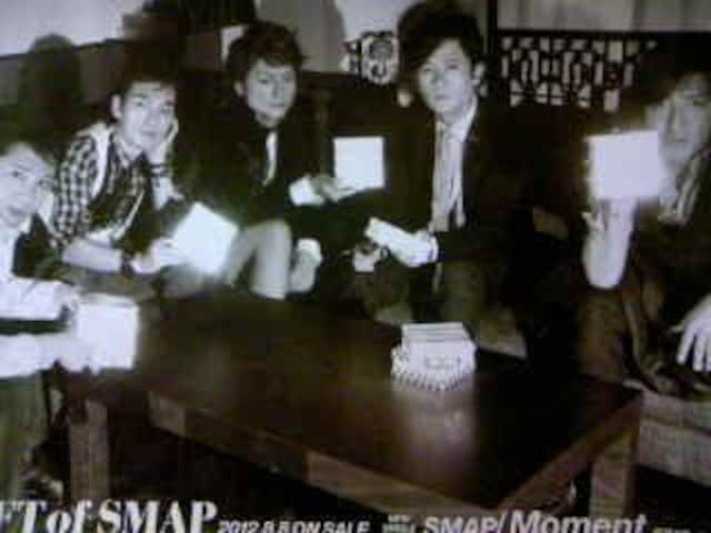SMAP 「GIFT of SMAP/Moment」 非売品ポスター  < タレントグッズの