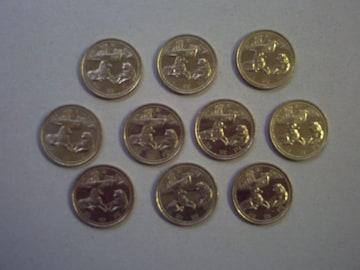 ★平成19年 南極地域観測50年 500円貨 10枚★