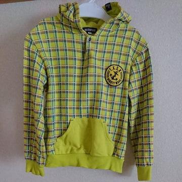 TKSAPKIDパーカーかぶり130黄緑ポケット
