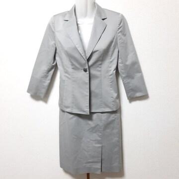 美品 INDIVI インディヴィ スカート スーツ 灰色 送料無料