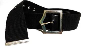 正規 希少 Dior Homme ディオールオム Dバックルデニム×レザーベルト黒 80 兼用