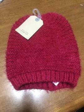 新品タグ付き ZARA ニット帽 帽子 赤 キッズ