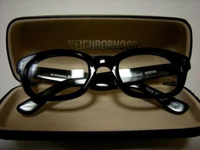 エフェクターNEIGHBORHOODネイバーフッド伊達眼鏡メガネ 黒  < 男性ファッションの