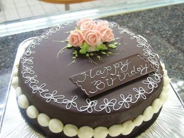 昔懐かしい、チョコレートデコレーションケーキ