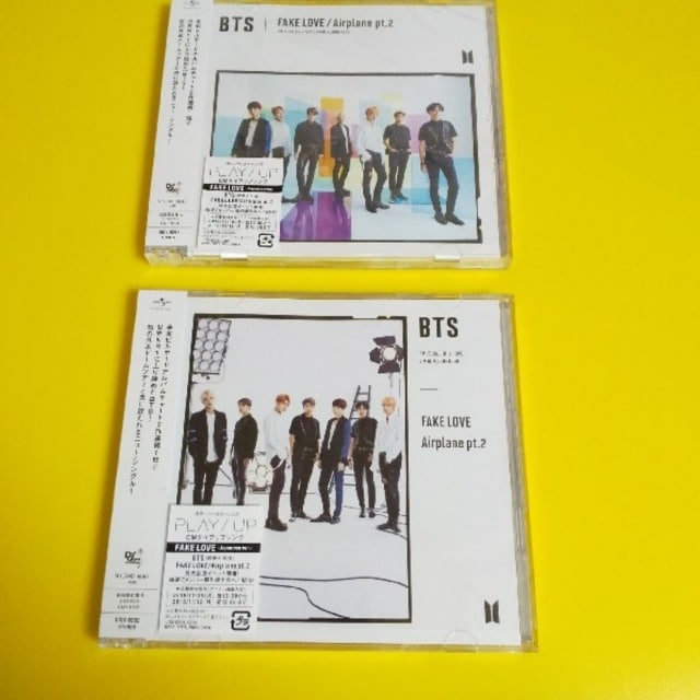 BTS-防弾少年団FAKE LOVE/Airplane pt.2(2種セset/CD+DVD-初回盤  < タレントグッズの