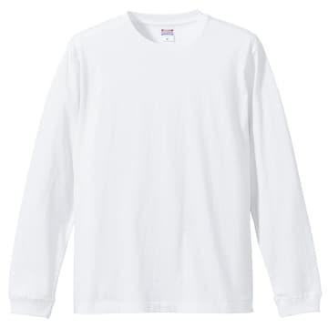 5.6オンス ロングスリーブTシャツ(1.6インチリブ)ホワイト S