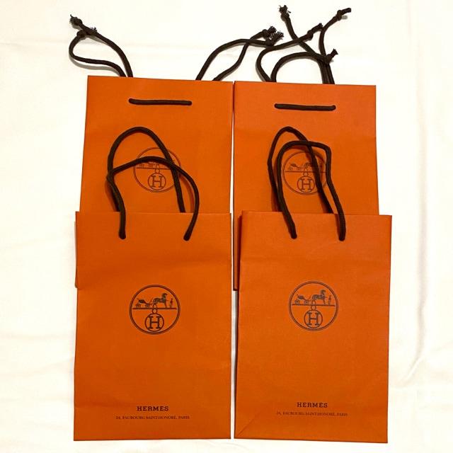 エルメスHERMES ショップ袋 ショッパー 4枚  < ブランドの