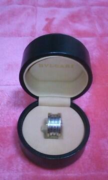 確実正規☆ブルガリ Bzeroリング シルバー指輪 箱ケースあり 激安 美品