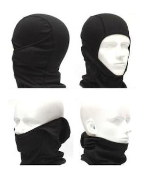 フェイスマスク ネックウォーマー 黒 防寒 多機能