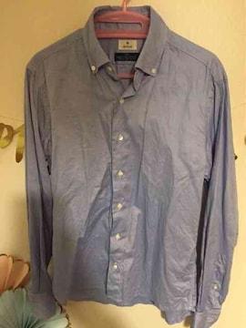 EDIFICE ボタンダウンシャツ ライトブルー 44