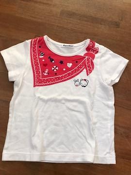 良好『familiar』可愛いプリント柄Tシャツ100 日本製 オススメ