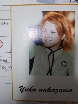 中澤裕子ミニ色紙