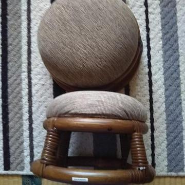 籐 新品 正座椅子 2脚セット