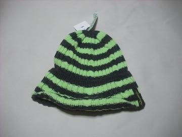 wb361 女 BILLABONG ビラボン ニット帽 ビーニー ボーダー