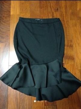 ZARABASICザラベーシック黒エレガント膝丈マーメイドスカート