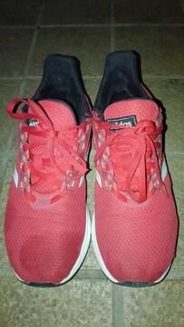 adidas キッズ  スニーカー 赤色 22cm 少し難あり