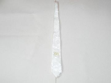 ネクタイ 白 折鶴模様 国産品★新品未使用