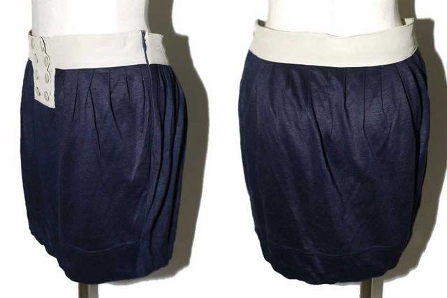 FLORENT フローレント スカート ベージュ×ネイビー < ブランドの