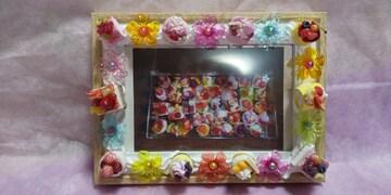 63】スイーツ写真たて☆ハンドメイド�A