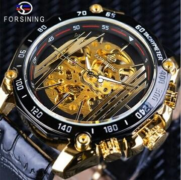 新品 送料込み 正規品 FORSINING 自動巻き メンズ腕時計