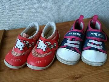 13.5�pキティーちゃん靴2足セット