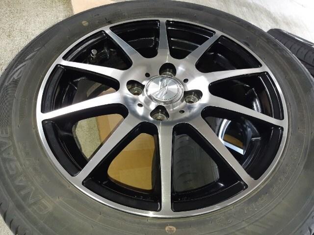 185/60R15 タイヤ、アルミホイール付4本セット < 自動車/バイク