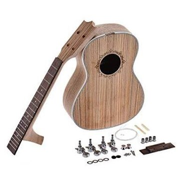Rakuby 26インチ ウクレレ DIYキット ハワイギター ゼブラウッド