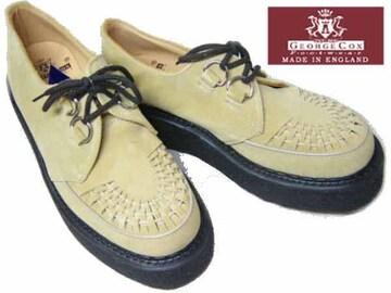 ジョージコックス新品ラバーソール3588サンド スエード厚底靴7