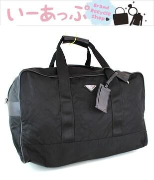 プラダ ボストンバッグ 旅行かばん トラベルバッグ 黒 美品 k550