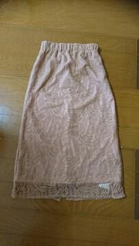 値下げ ur,s  レースタイトスカート サイズS