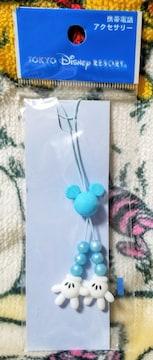 TDR☆ミッキー【携帯電話アクセサリー】ミッキーシェイプ★ブルー