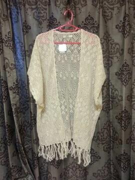 アズールバイマウジーAZUL*カーデ*カギ編み*タグ付き新品