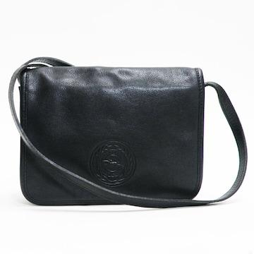 Longchampロンシャン ショルダーバッグ レザー黒 良品 正規品