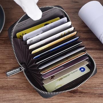 二つ折り カード入れ ラウンドファスナー型 財布 横長