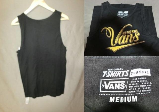 USA購入 バンズ【Vans】ロゴプリントタンクトップUS M < 男性ファッションの